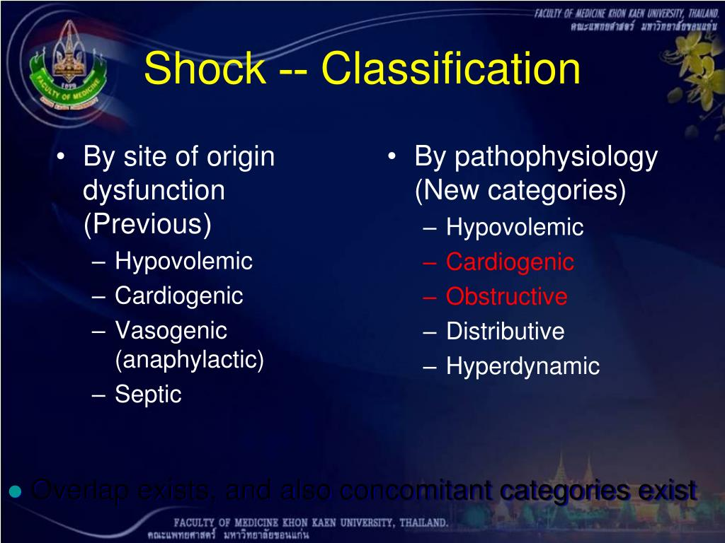 By pathophysiology (New categories)