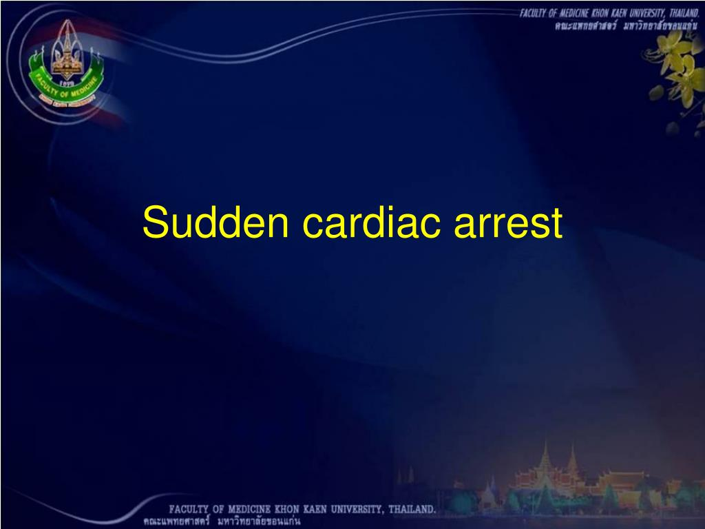 Sudden cardiac arrest