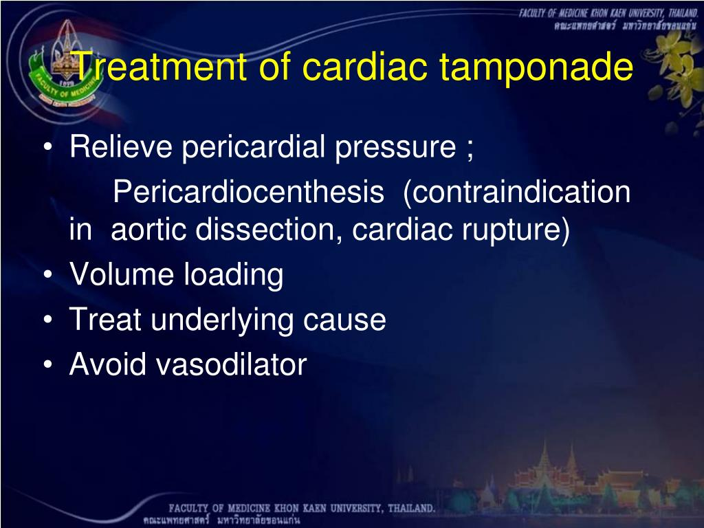 Treatment of cardiac tamponade