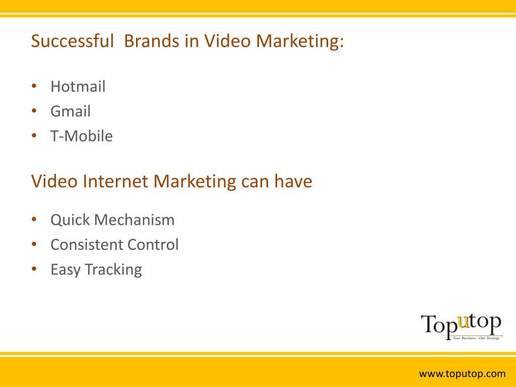 Successful  Brands in Video Marketing: