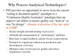why process analytical technologies
