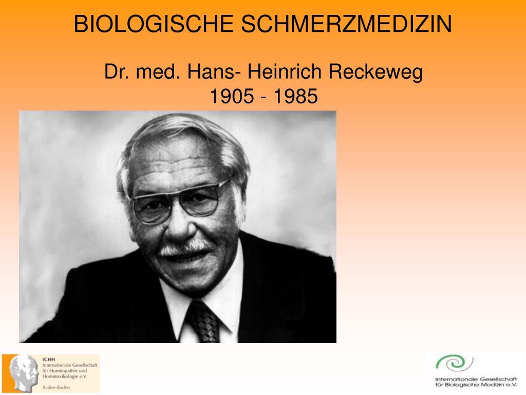 Dr. med. Hans- Heinrich Reckeweg