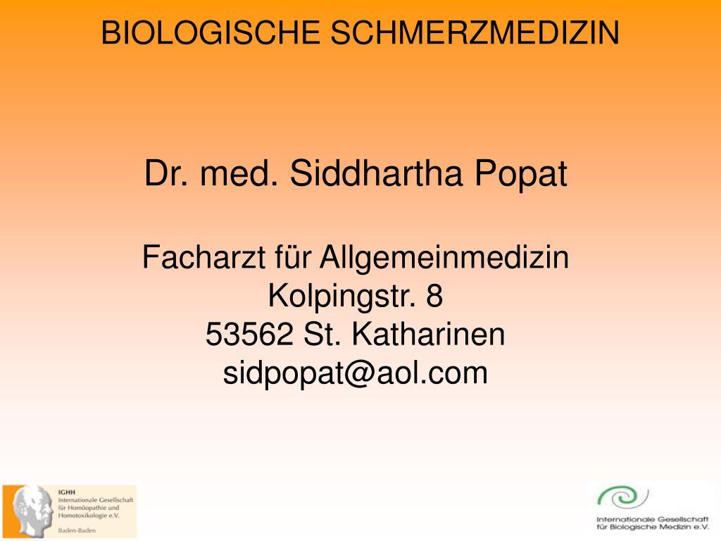Dr. med. Siddhartha Popat