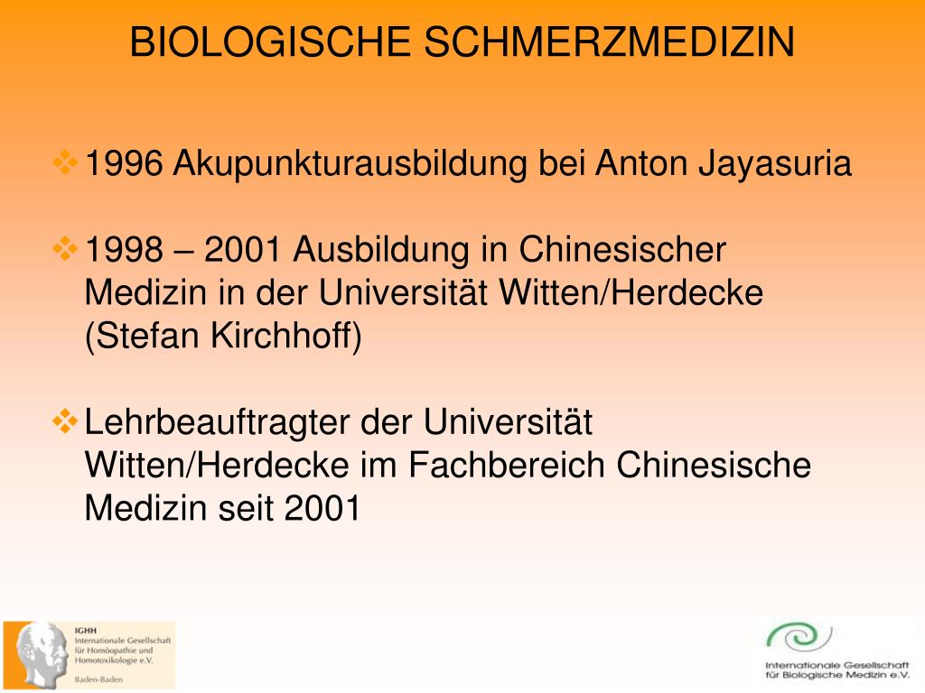 1996 Akupunkturausbildung bei Anton Jayasuria