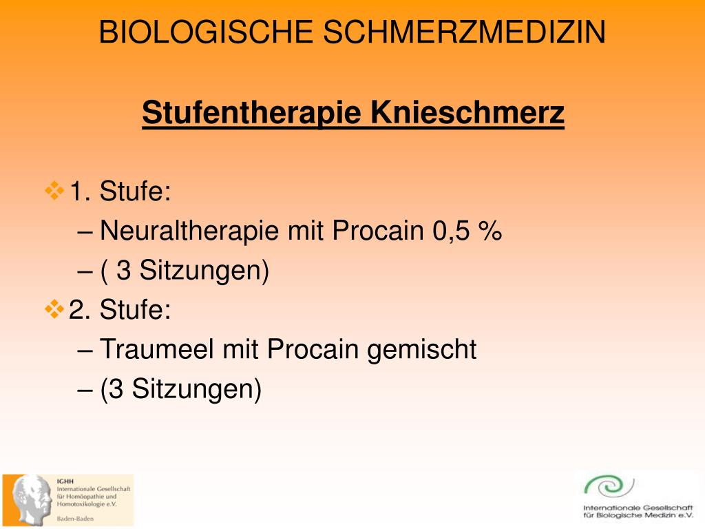 Stufentherapie Knieschmerz