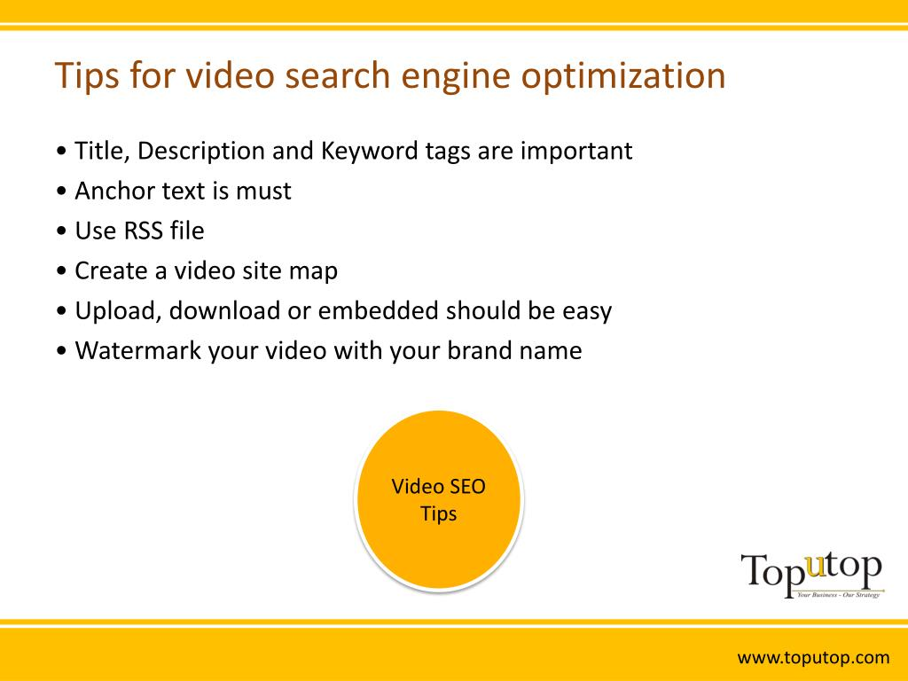 Tips for video search engine optimization