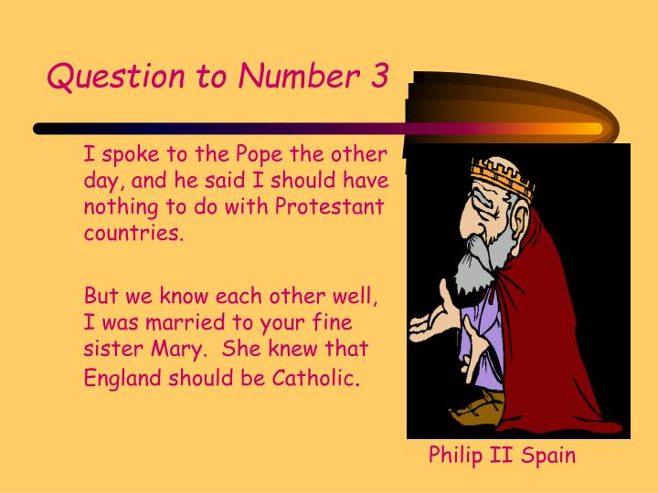 Question to Number 3