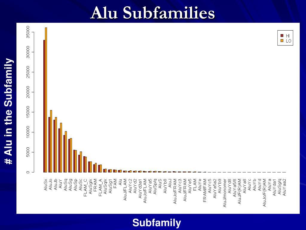 Alu Subfamilies
