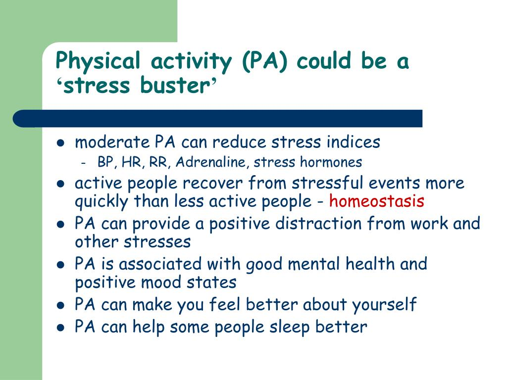 Physical activity (PA) could be a