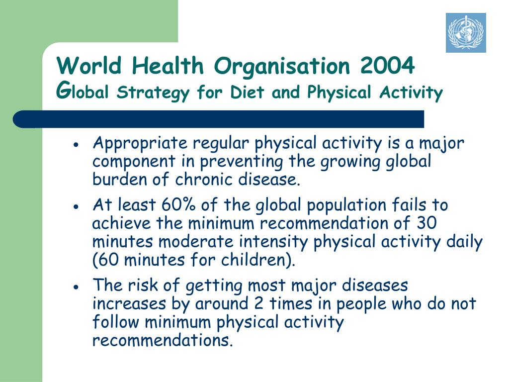 World Health Organisation 2004