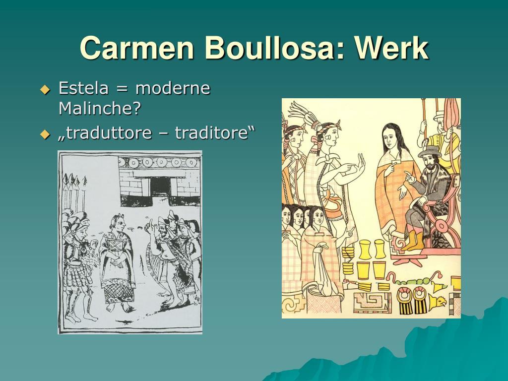 Estela = moderne Malinche?