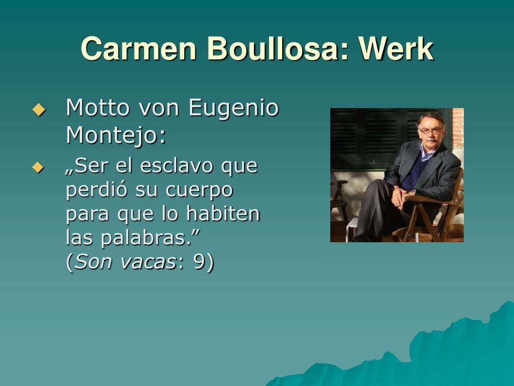 Carmen Boullosa: