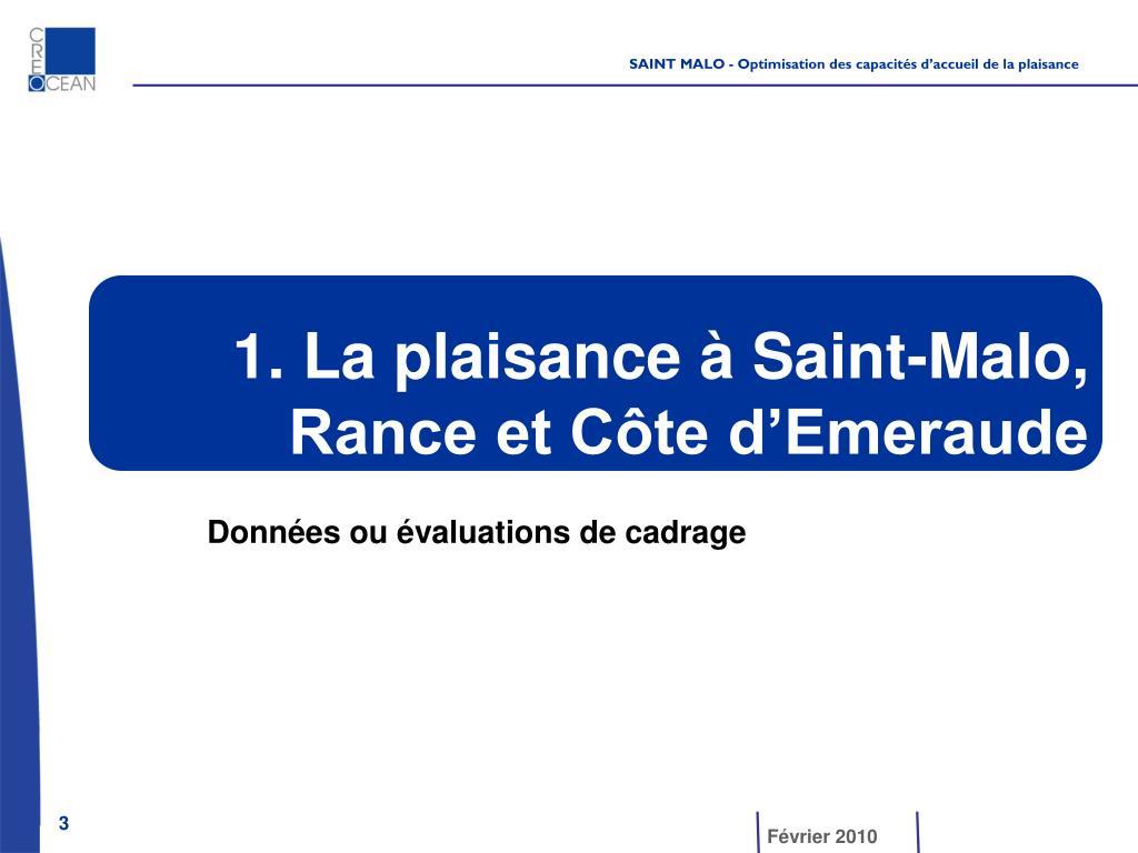 1. La plaisance à Saint-Malo,