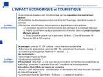 l impact economique et touristique