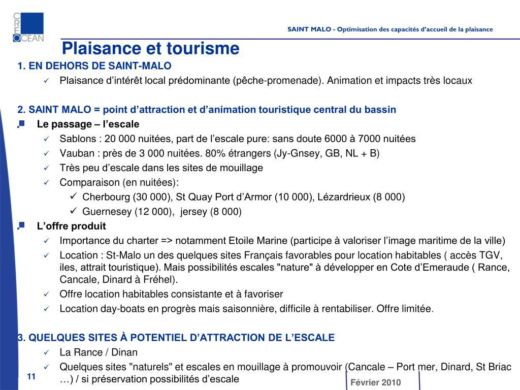 Plaisance et tourisme