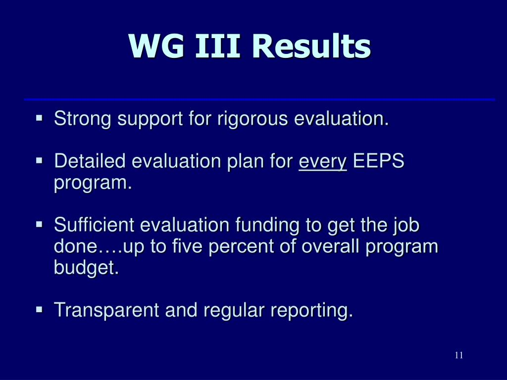 WG III Results