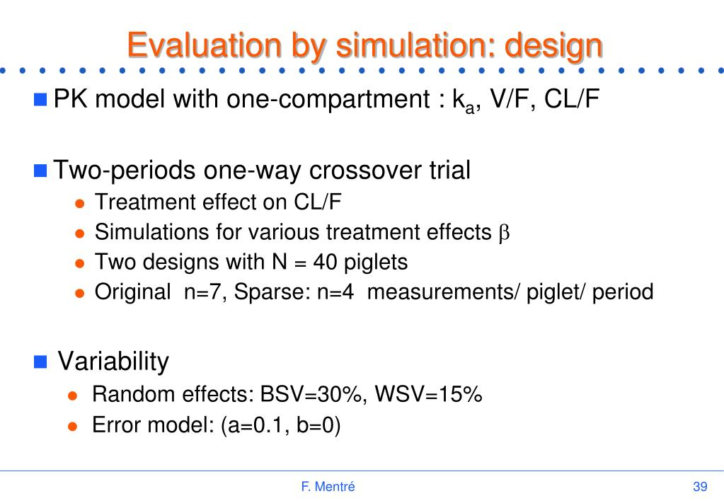 Evaluation by simulation: design