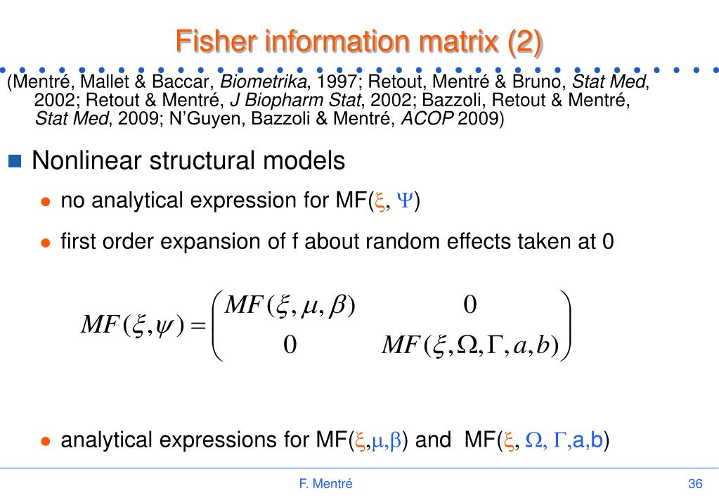Fisher information matrix (2)