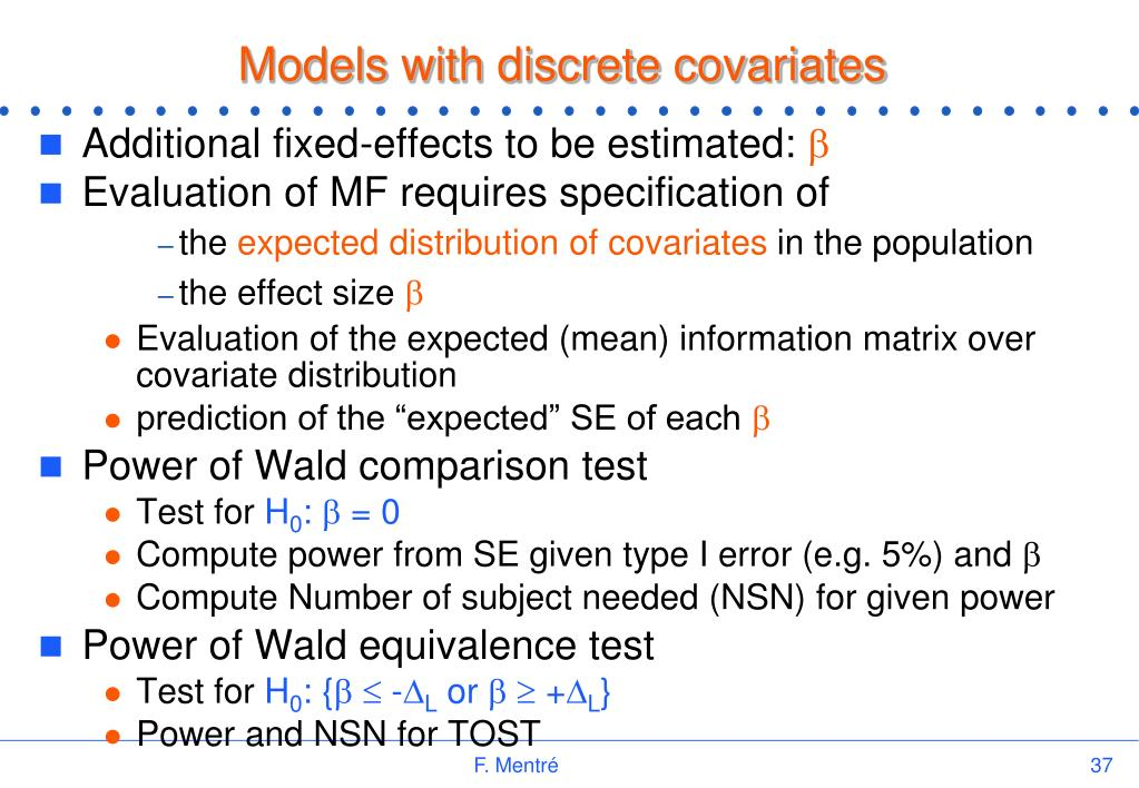 Models with discrete covariates