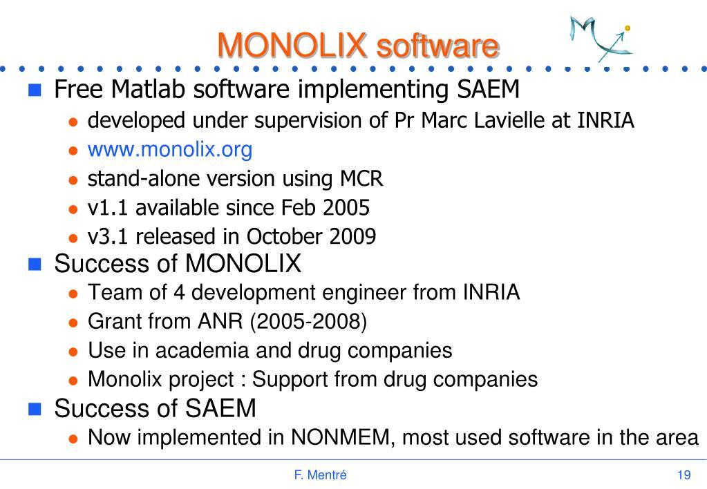 MONOLIX software