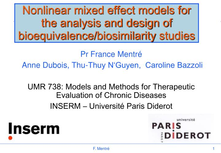 Nonlinear mixed effect models for the analysis and design of bioequivalence biosimilarity studies l.jpg