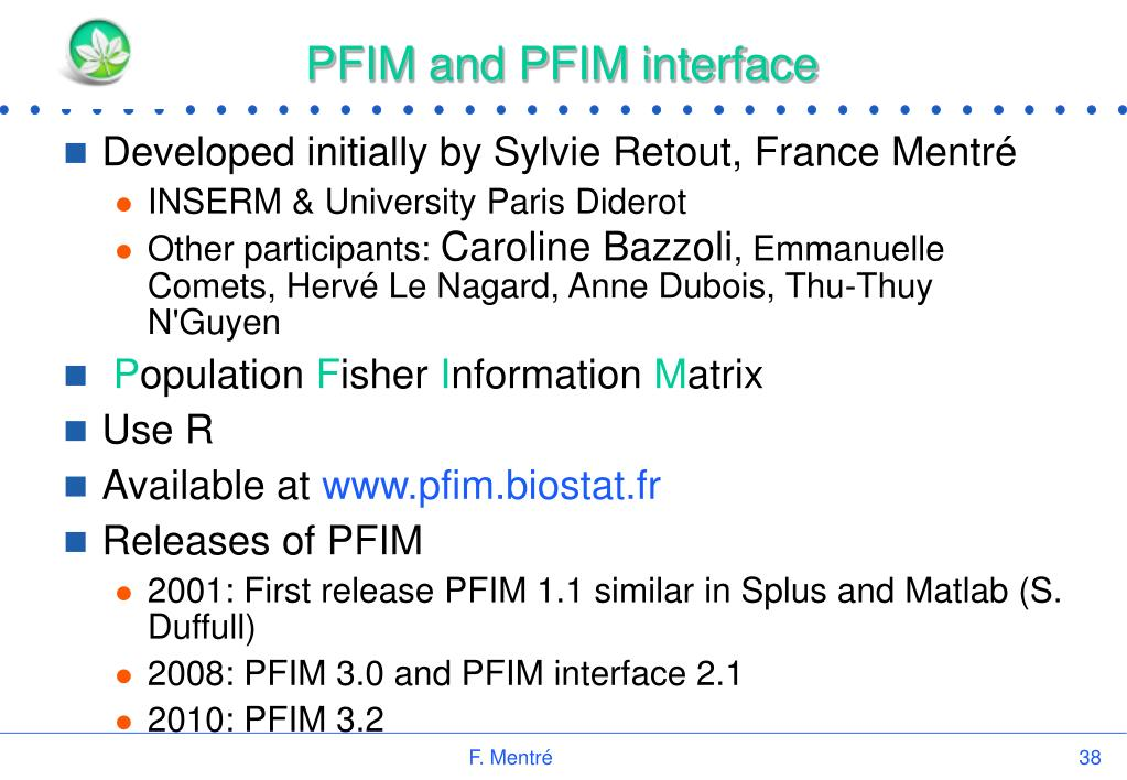PFIM and PFIM interface