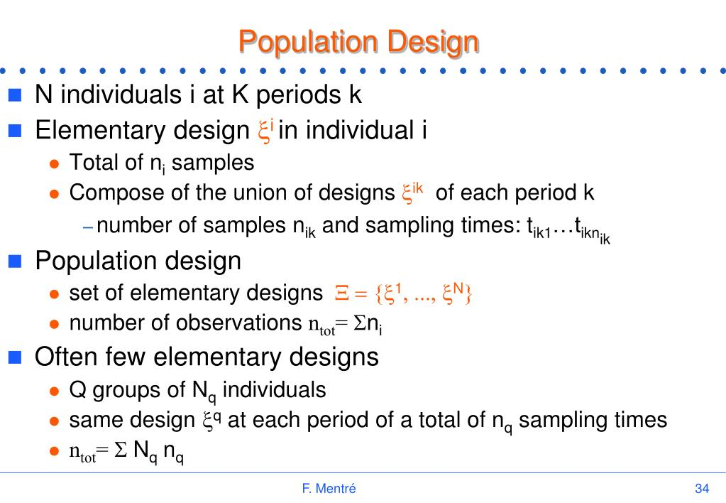 Population Design