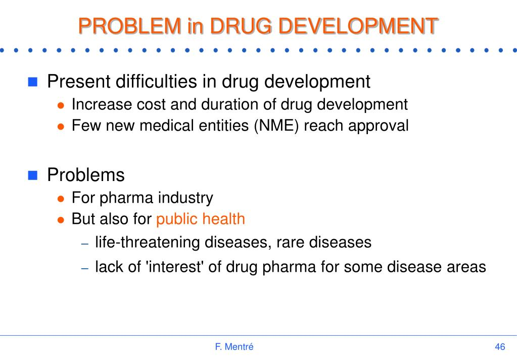 PROBLEM in DRUG DEVELOPMENT