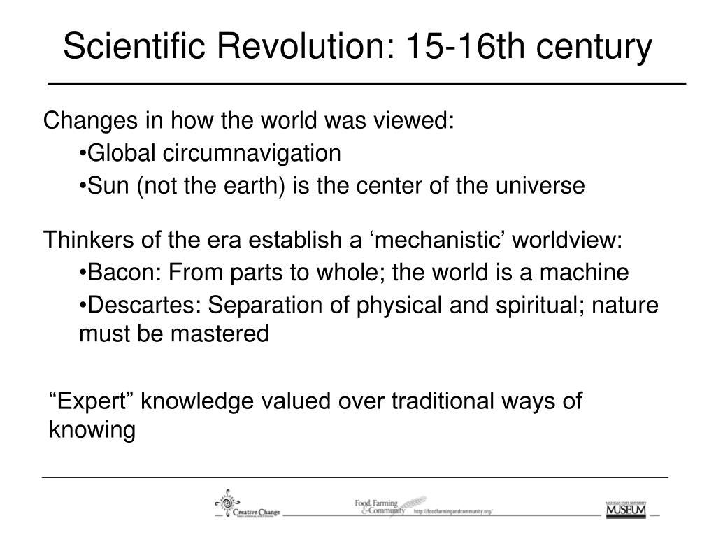 Scientific Revolution: 15-16th century