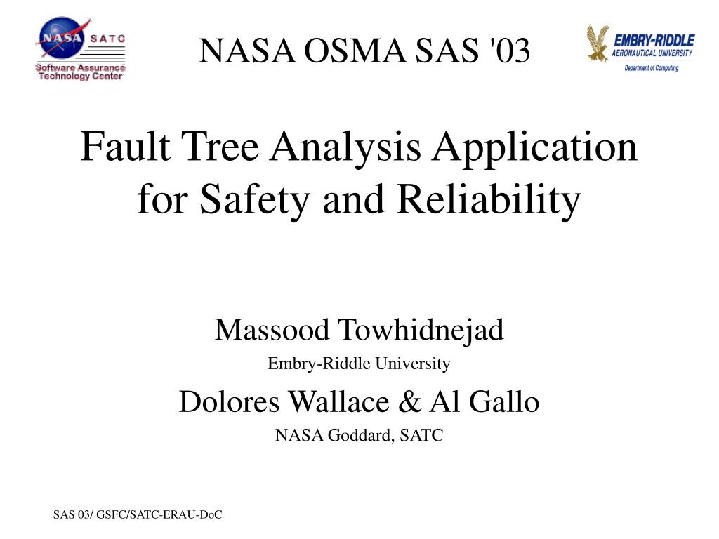 ppt fault tree analysis application for safety and - 28 ...