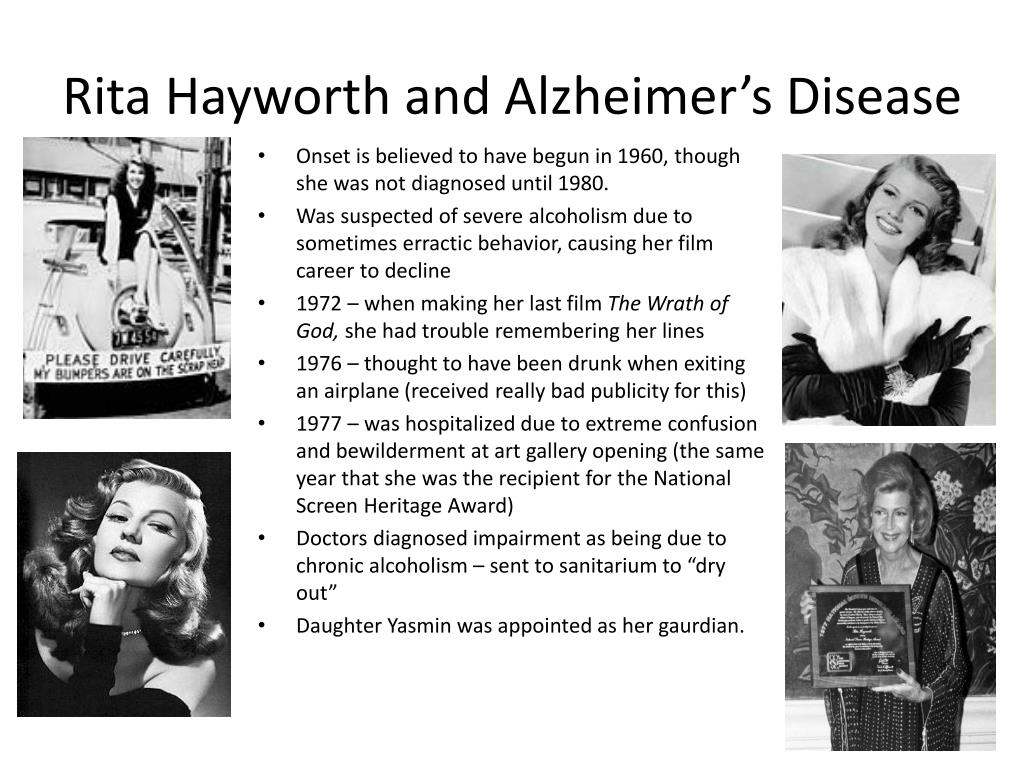 Rita Hayworth and Alzheimer's Disease