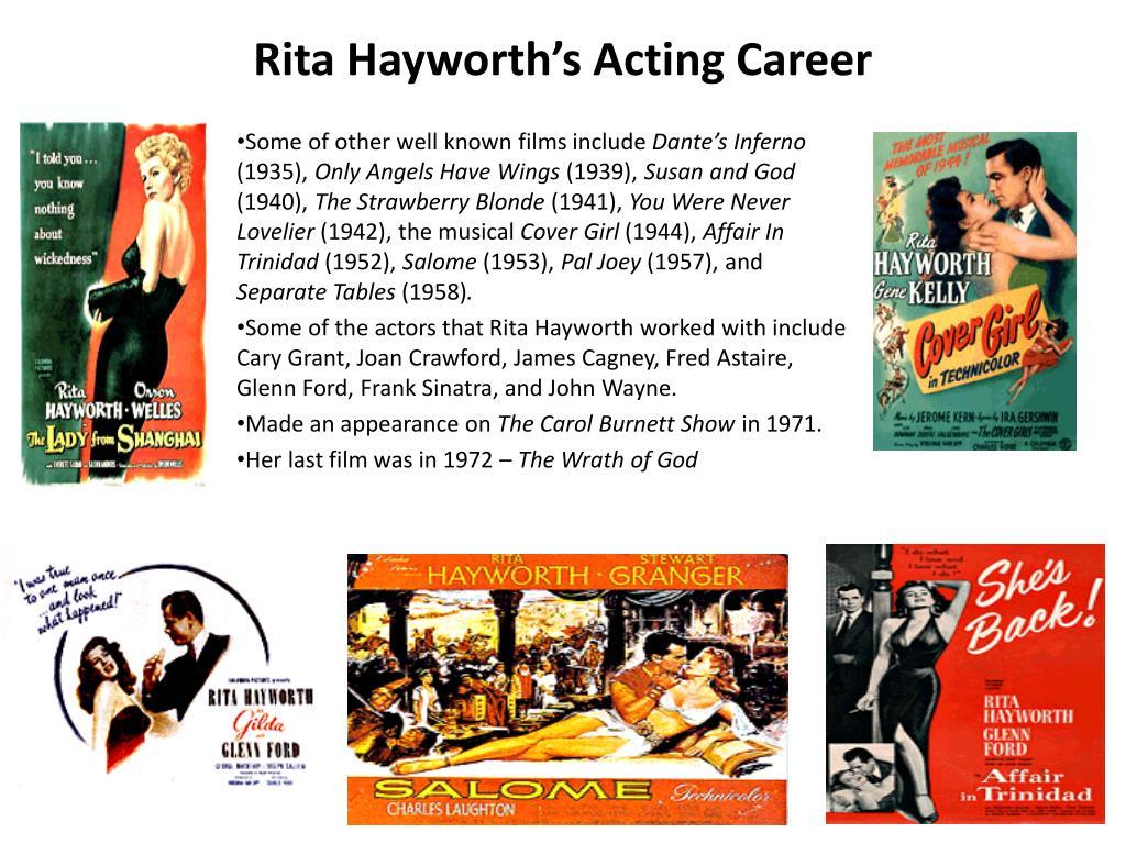 Rita Hayworth's Acting Career