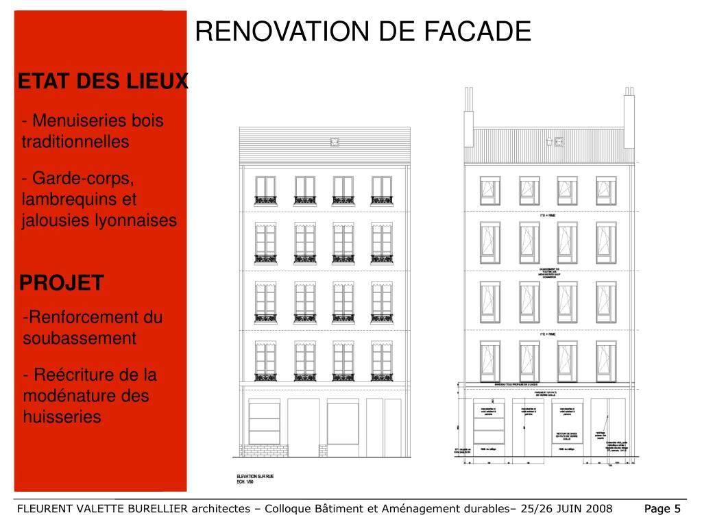 RENOVATION DE FACADE