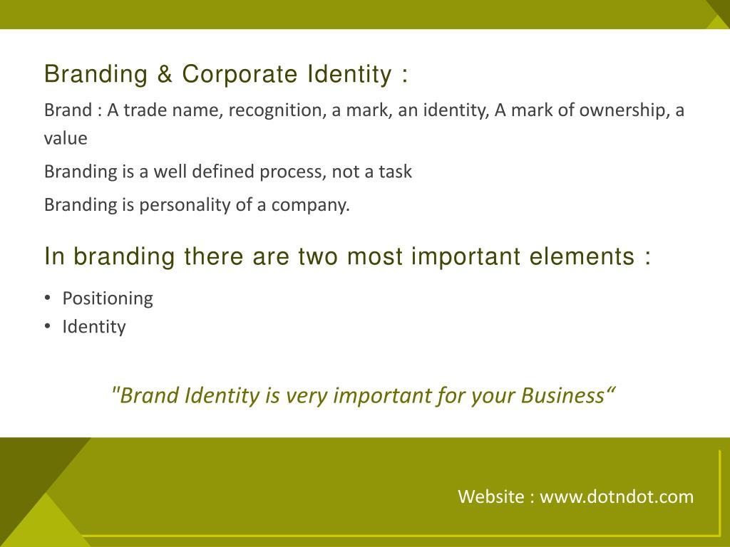Branding & Corporate Identity :