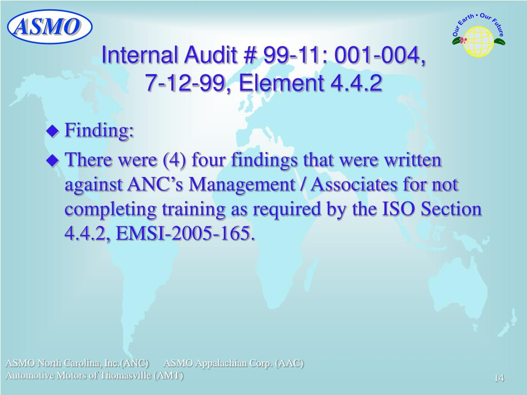 Internal Audit # 99-11: 001-004,