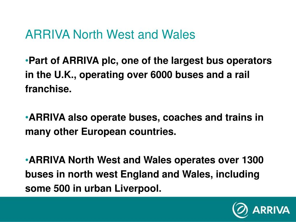 ARRIVA North West and Wales