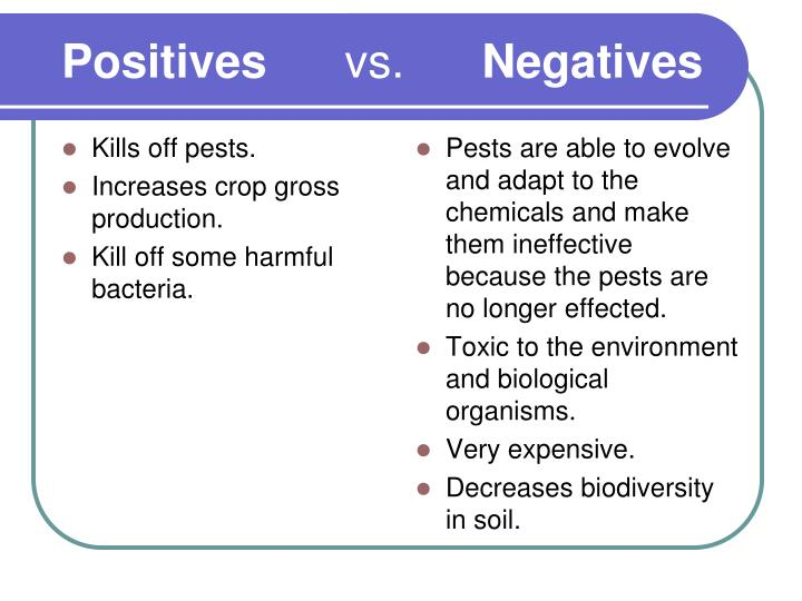 Positives vs negatives