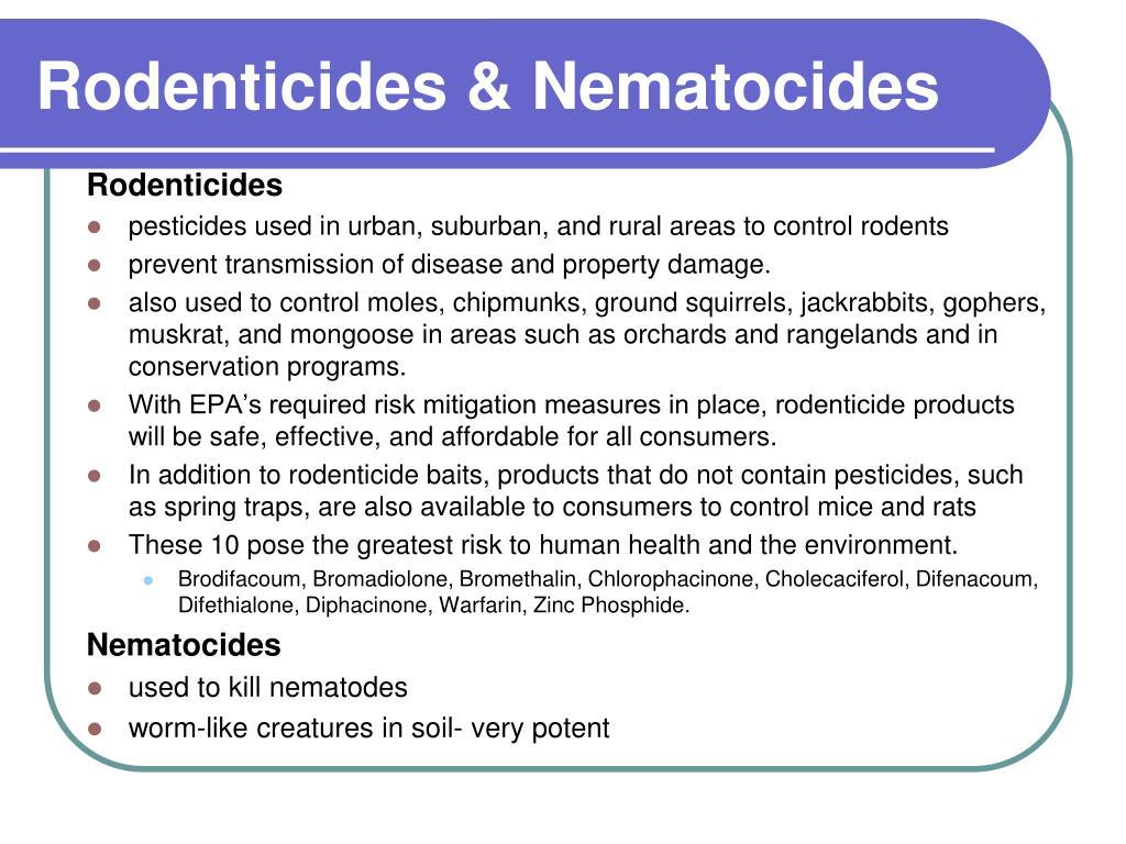 Rodenticides & Nematocides