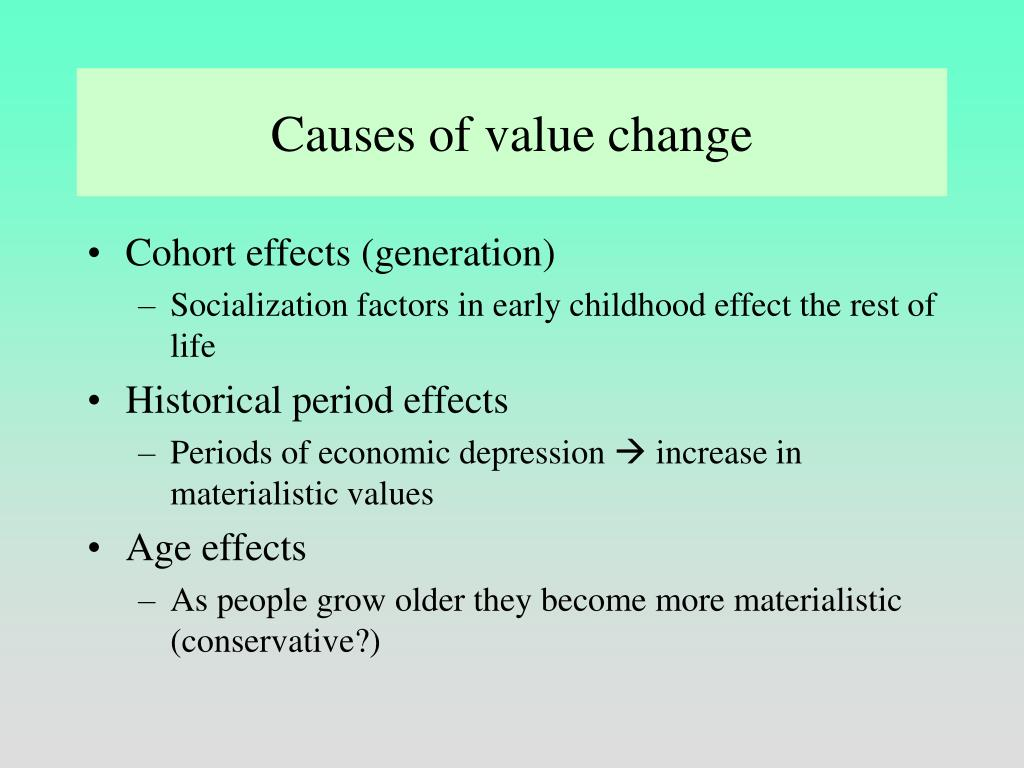 Causes of value change