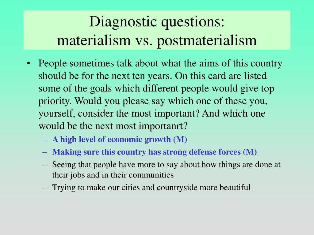 Diagnostic questions:
