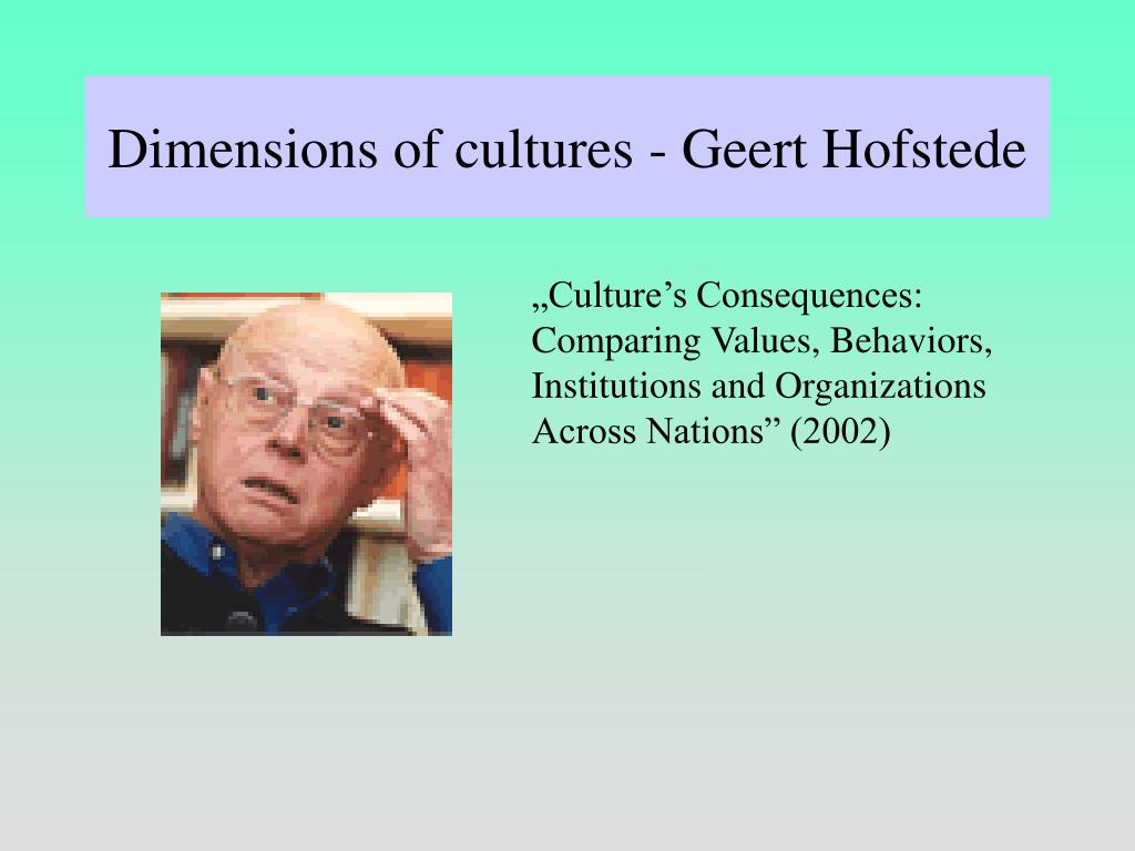 Dimensions of cultures - Geert Hofstede