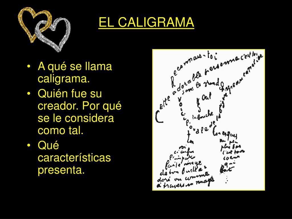 EL CALIGRAMA
