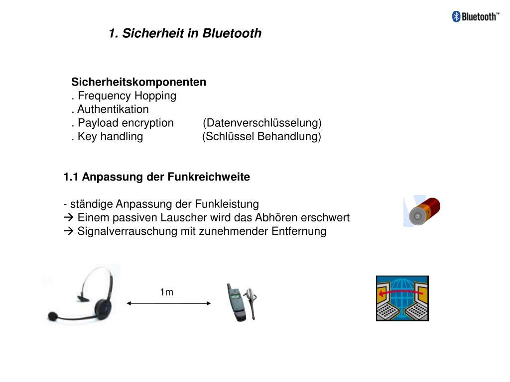 1. Sicherheit in Bluetooth