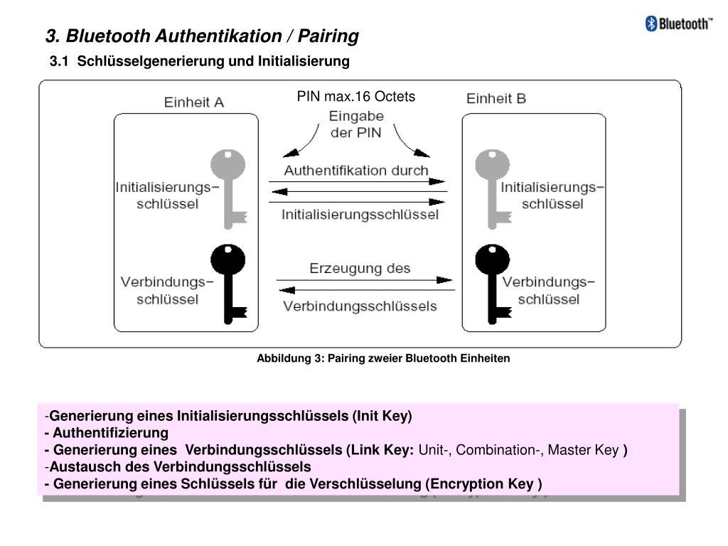 3. Bluetooth Authentikation / Pairing