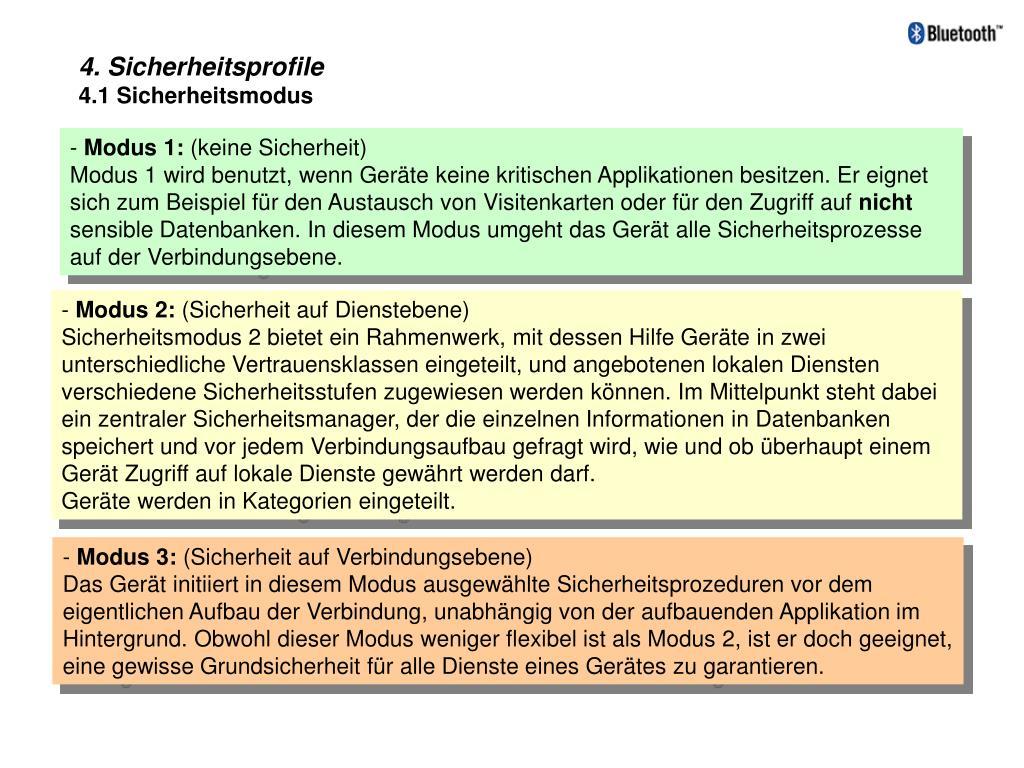 4. Sicherheitsprofile