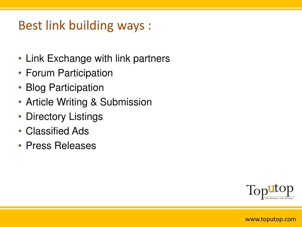 Best link building ways :