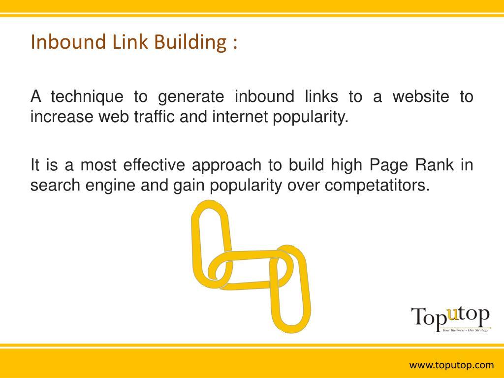 Inbound Link Building :