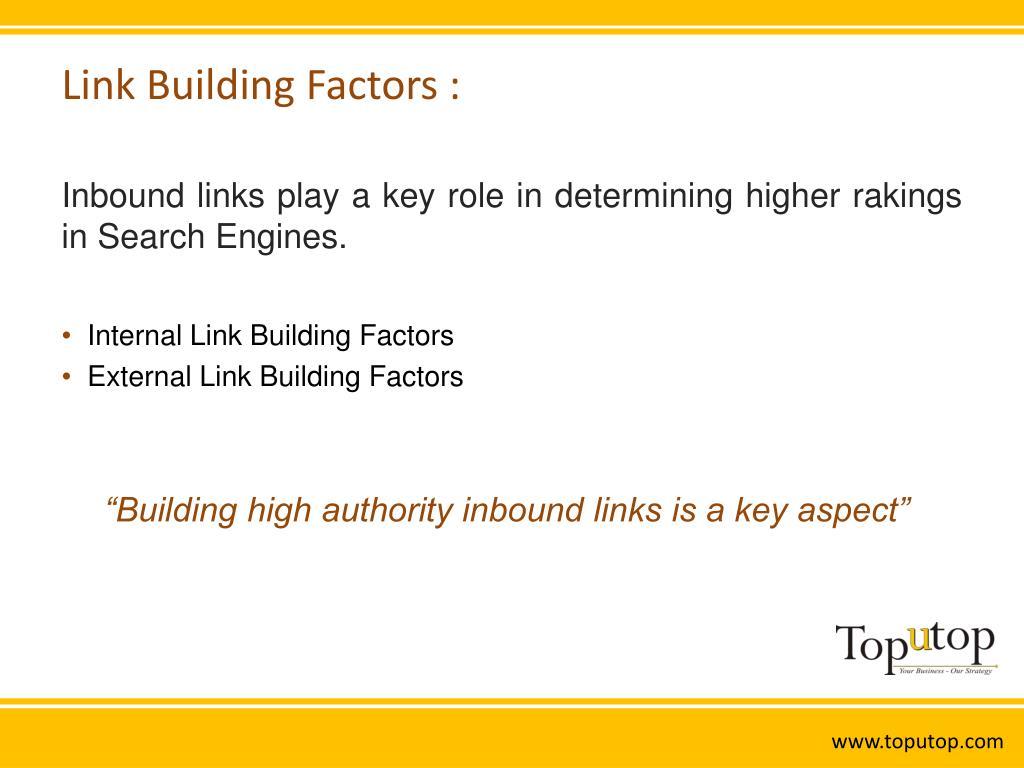 Link Building Factors :