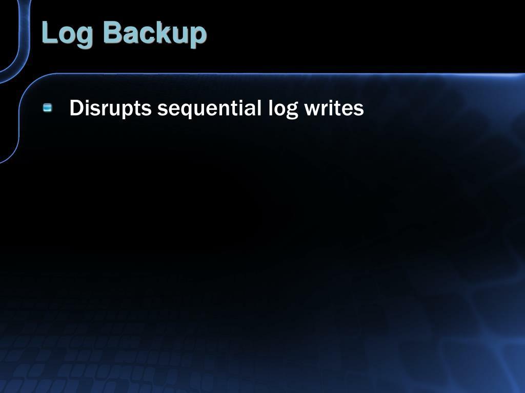 Log Backup