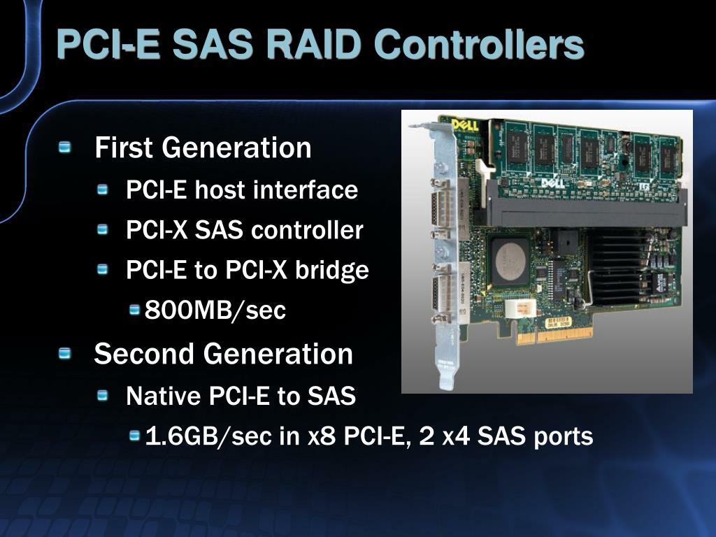 PCI-E SAS RAID Controllers